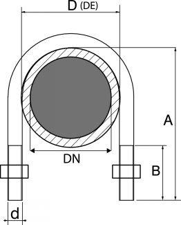 plan de l étrier INOX pour tubes