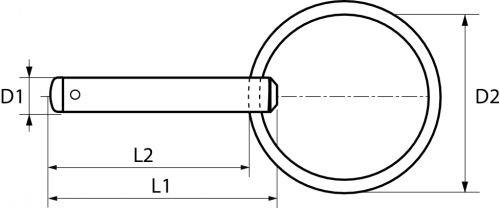 Schéma goupille à bile Inox A4
