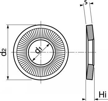 Schéma rondelle contact moyenne