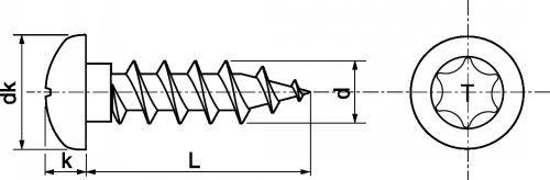 schéma vis bois inox TC6L